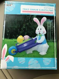 EASTER BUNNY Inflatable RABBIT/BUNNY & EGG CART INFLATABLE L
