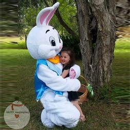 Easter Bunny Mascot Costume Rabbit Cosplay Adult Fancy Dress