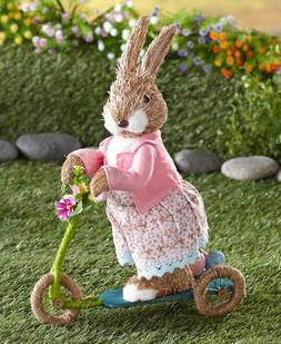 Easter Bunny On The Go Figurine with Miniature Scooter - Hol