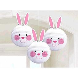 Amscan Easter Bunny Paper Chinese Lantern Decorations 3/pkg