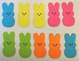 Easter Bunny Peep Peeps Paper Die Cut Embellishments 10pc sc
