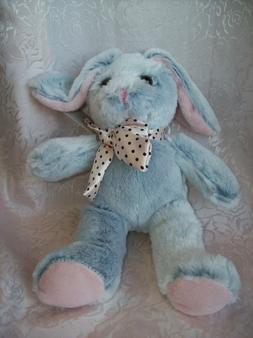 Easter Bunny Plush 10 Inch Blue Bunny