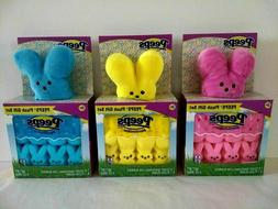 Peeps Easter Bunny Plush Gift Set with Edible 8 Count Marshm