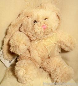"Easter Bunny Plush Stuffed Animal Toy 10"" Cream Cottontail R"