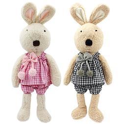 JIARU Easter Bunny Plush Stuffed Animals Toys Rabbits with R