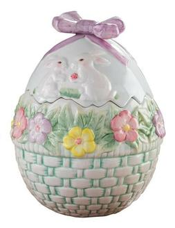 Victorian Trading Easter Bunny Rabbit Basket Candy Treat Pet