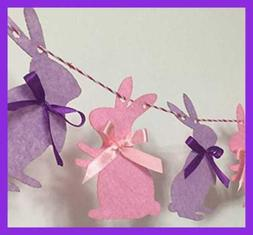 Easter Bunny Rabbit Birthday Banner Decorations Party Suppli