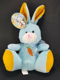 Easter Bunny Rabbit Blue Bow Orange Plush Carrot Belly Stuff