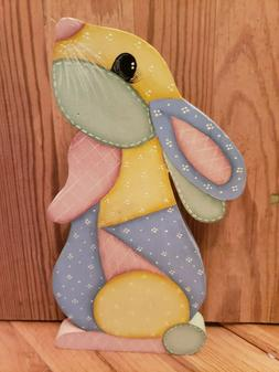 Easter Bunny Rabbit Wood Country Pattern Crafts Hand painted