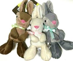 """EASTER BUNNY RABBITS 8"""" Plush NEW Bunnies_SET OF 3_Stuffed A"""