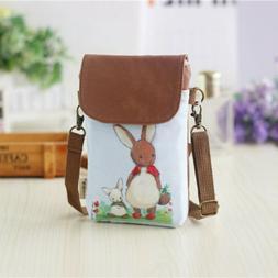 easter bunny small crossbody wrist bag mini