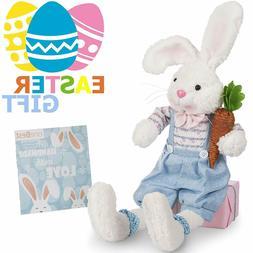 Easter Bunny Stuffed Animal Toy Bunny Plush Peter Rabbit Ani