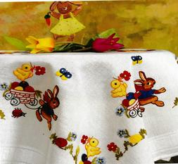 """""""Easter Bunny"""" Tablecloth Kit for Embroidery Duftin 1256"""