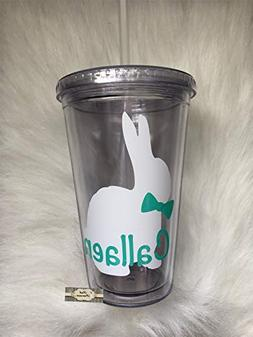 Easter Bunny Tumbler, Personalized Cup, Easter Bunny Tumbler