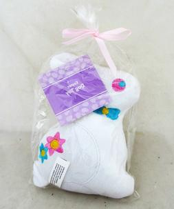 Easter Bunny White Rabbit Pet Squeeky Dog Toy Plush Figure S