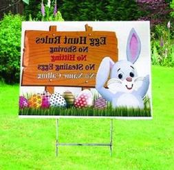 Easter Bunny Yard Party Sign,Bunny Lawn Decoration