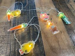 Easter Character String lights, Bunny, chick, frog, egg