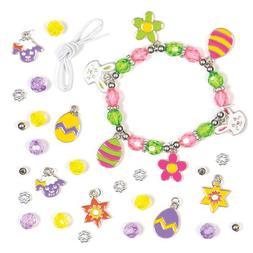 Baker Ross Easter Charm Bracelet Kits with Chick, Bunny, Lam