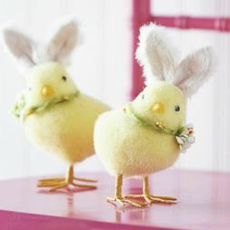 "Raz Imports Easter Decor 8""H Chick with White Bunny Ears Set"