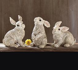 Burton and Burton Easter Decor Hand Painted Cream Resin Bunn