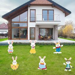 Easter Decoration Easter Bunny Lawn Yard Sign 6 Piece Easter