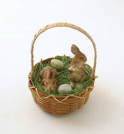 Easter Decoraton Bunny Rabbits Basket Eggs