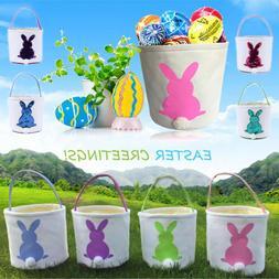 Easter Egg Basket Holiday Rabbit Bunny Printed Canvas Kids G