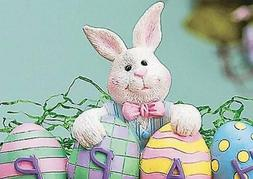 Easter Holiday Bunny & Colorful Egg Decorative Centerpiece 8