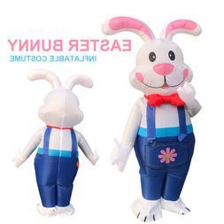 Easter Inflatable Bunny Costume Halloween Cosplay Blow Up Su