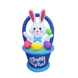 Easter Inflatable Bunny Decoration Outdoor Holiday Easter Ra