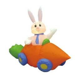 Easter Inflatable Bunny Rabbit Carrot Car Lawn Spring Indoor