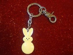 Easter Marshmallow Blue Peep Key Ring//Purse Jewelry// Key Chain// Zipper Pull