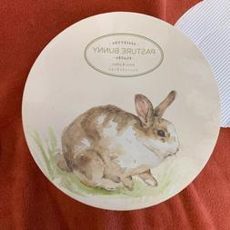 Pottery Barn Easter Pasture Bunny Salad Plates Set of 3 NWB