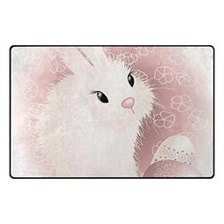 ColourLife Easter Pink Bunny Rabbit Eggs Lightweight Area So