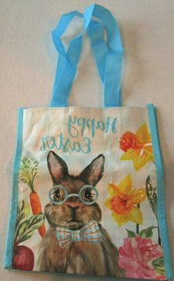 """EASTER Reusable Small Tote Bag 9"""" x 10"""" X 6"""" HAPPY EASTER/SP"""