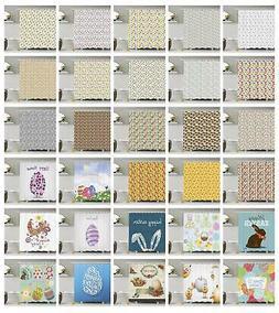 Easter Shower Curtain Fabric Bathroom Decor Set with Hooks 4