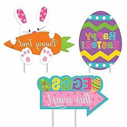 Amscan Easter Sidewalk Signs, Assorted Sizes, Multicolored