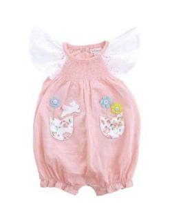 Mud Pie Easter Smocked Bunny Bubble  0-3M 3-6M 6-9M 9-12M 12