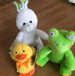 Easter Spring Wishpets Plush Frog Bunny Rabbit Duck Stuffed