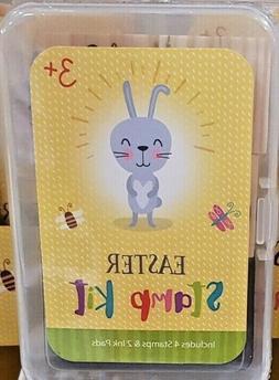 Easter Stamp Kit Bunny Chick Egg Butterfly Set Kids Art Craf