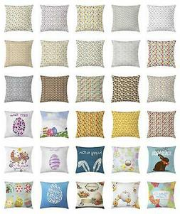 Easter Throw Pillow Cases Cushion Covers by Ambesonne Home A
