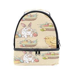 ALAZA Easter Vintage Hand Drawn Chick Bunny Rabbit Portable
