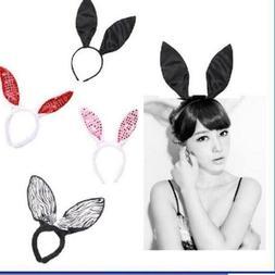 Easter Women Girl Long Bunny Ears Headband Tail Cosplay Rabb