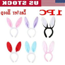 Easter Women Girls Long Bunny Ears Headband Tail Cosplay Rab