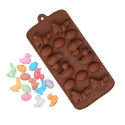 Egg Bunny Duck Silicone Soap mold Candy Chocolate Fondant Tr