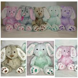 Embroidered Personalized Stuffed Animal, Easter Bunny, Perso