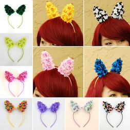 Floral Bunny Ears / Rabbit Ears Headband - Cosplay Hairband
