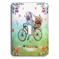 3dRose Floral Water Easter Bunny Illustration Socket Plate