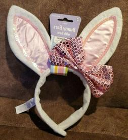 Amscan Fluffy Easter Bunny Ears with Bow Party Accessory Kit