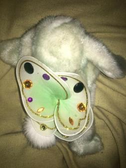 Aurora Flutterbunnies Clover Green Easter Bunny Gem butterfl